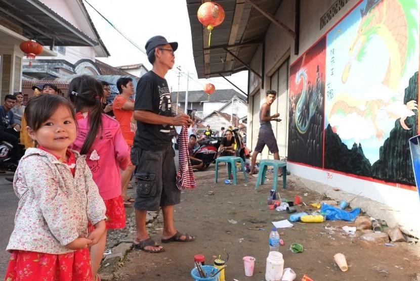 Festival Mural di kawasan Pecinan, Bangka Selatan