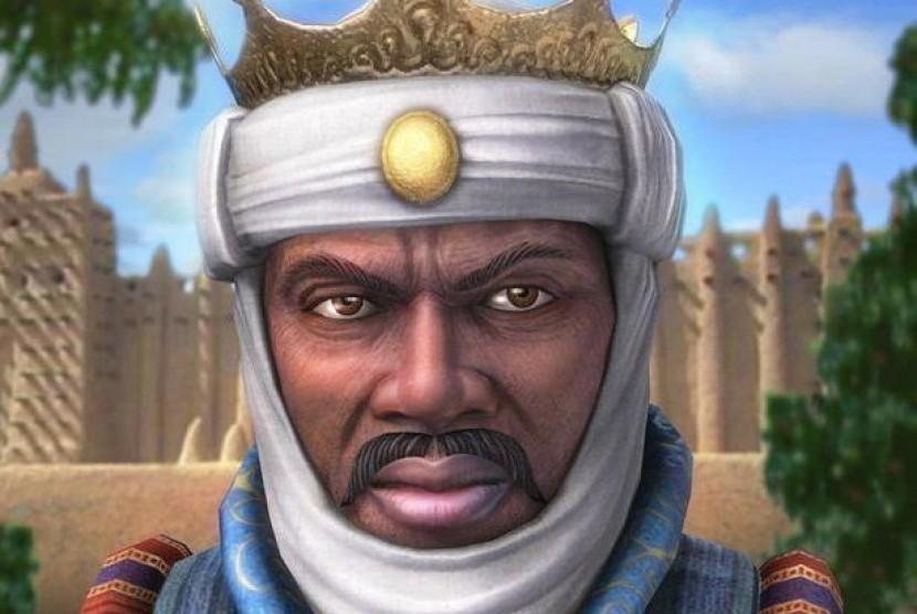 Foto lukisan impresi Mansa Musa I
