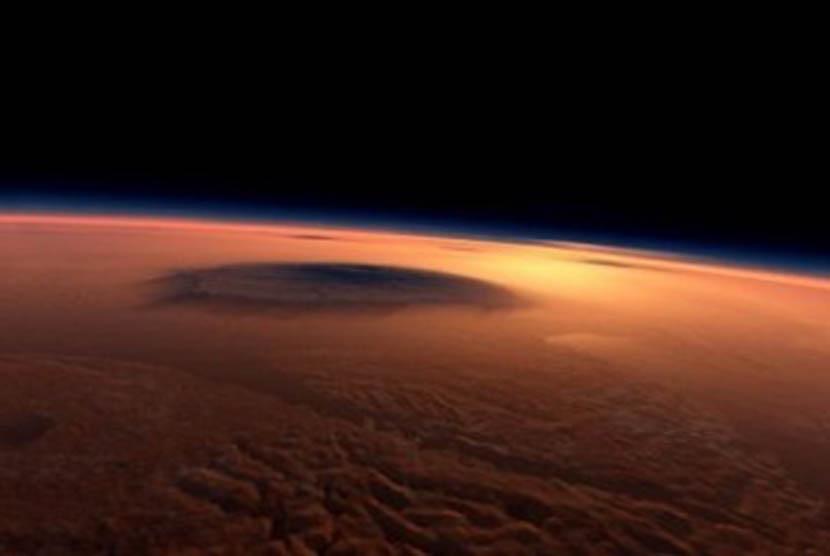 Foto Planet Mars diambil dari Spirit Rover milik NASA (Ilustrasi