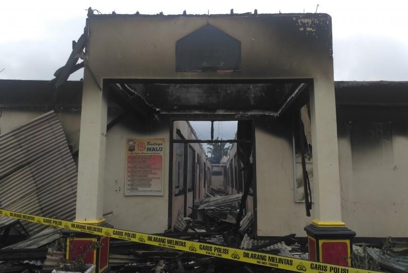 Tersangka Pembakaran Polres Dharmasraya Bertambah Dua Orang