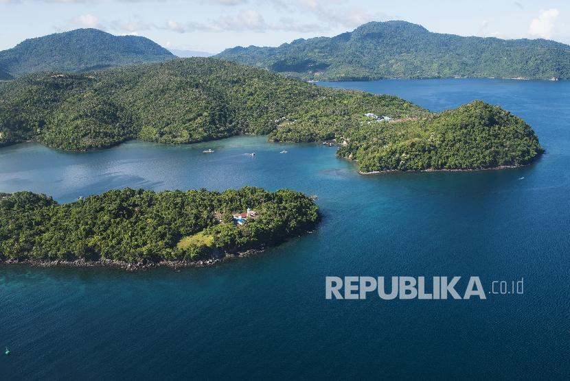 Foto udara pulau Weh, Sabang, Aceh.