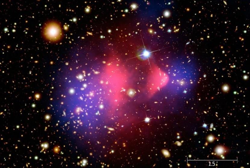 Foto yang dirilis NASA diambil dari gabungan 3 teleskop.