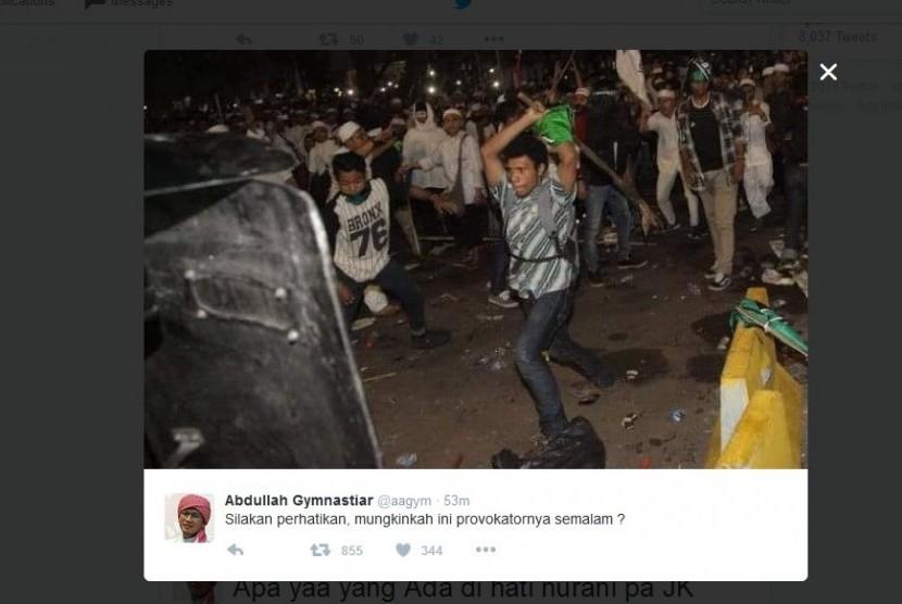 Foto yang diuanggah Aa Gym di akun Twitternya, Sabtu (5/11).