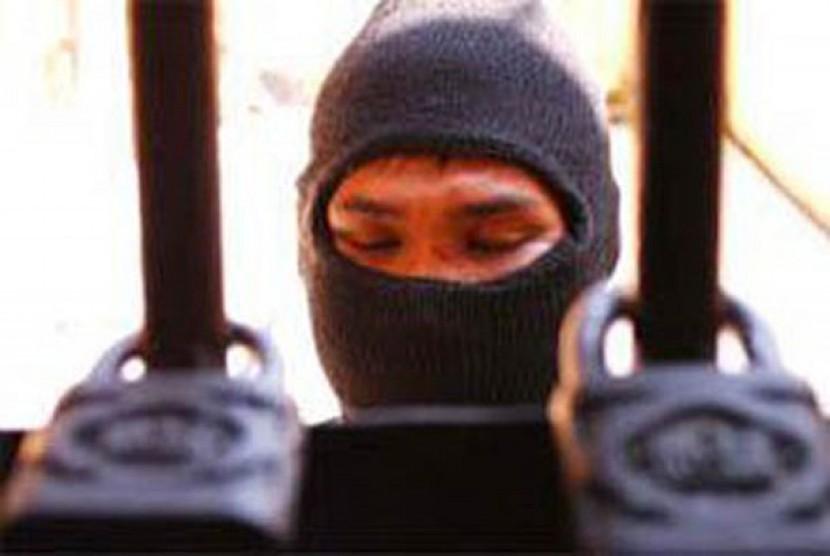 Gambar ilustrasi teroris yang ditangkap