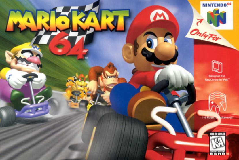 Game Mario Kart. Ilustrasi