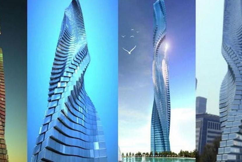 Gedung di Dubai yang bisa berotasi.