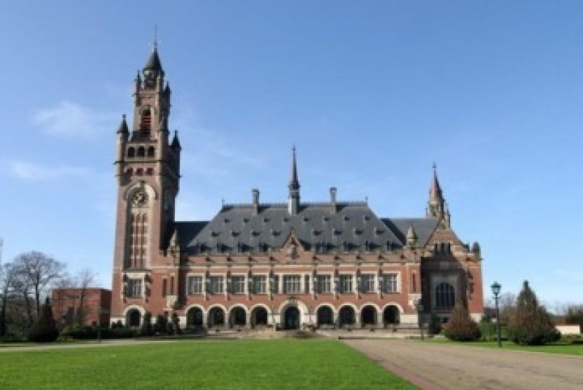 Gedung Mahkamah Internasional di Den Haag, Belanda