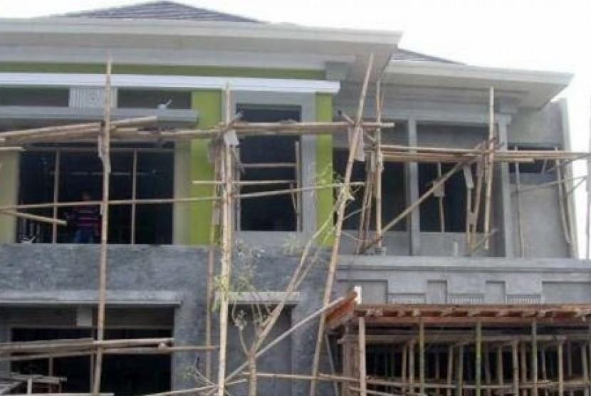 Gedung PPATK Cianjur yang tengah dikonstruksi