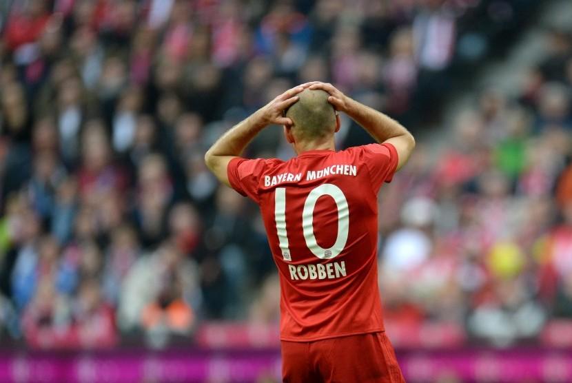 Gelandang Bayern Muenchen, Arjen Robben.