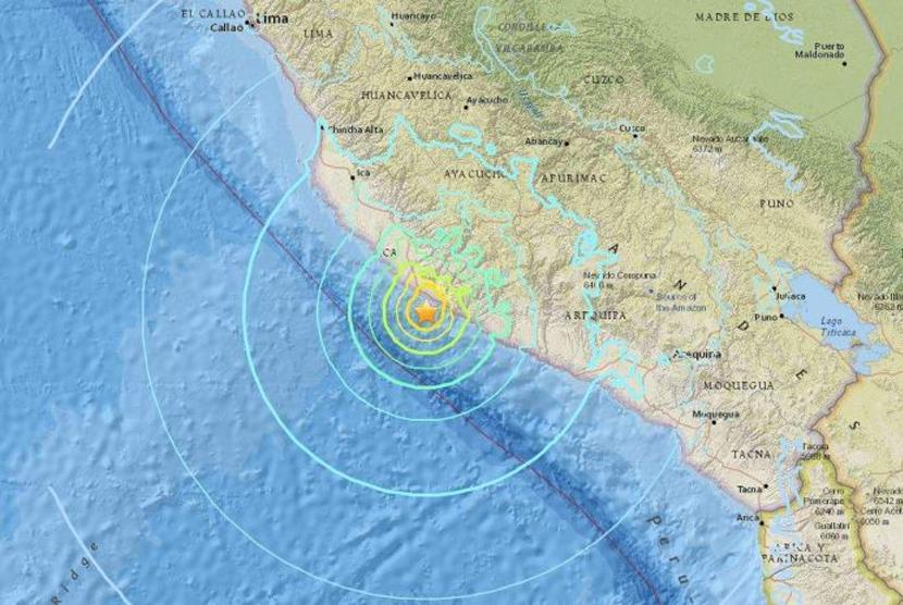 Gempa 7,1 SR Landa Peru