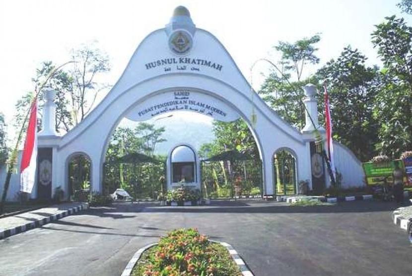 Gerbang Pondo Pesantren Modern Sahid Bogor.