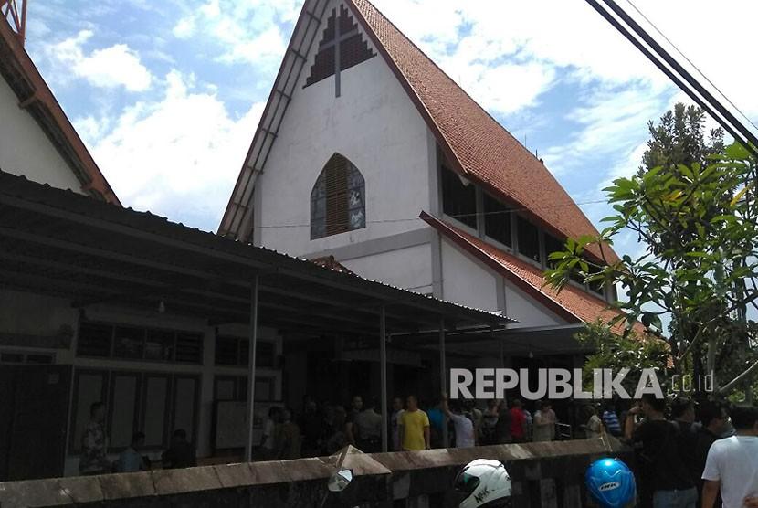 Santa Lidwina church, Padukuhan Bedog, Trihanggo village, Gamping , Sleman District, Yogyakarta.