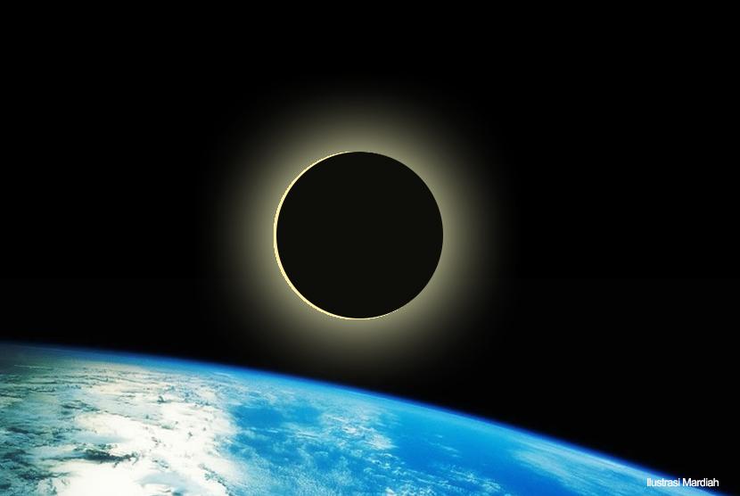 Gerhana Bulan. (ilustrasi)