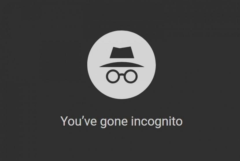 Google Chrome Incognito. Ilustrasi