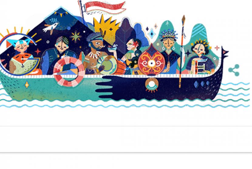 Google Doodle menyambut kemerdekaan Indonesia ke 72