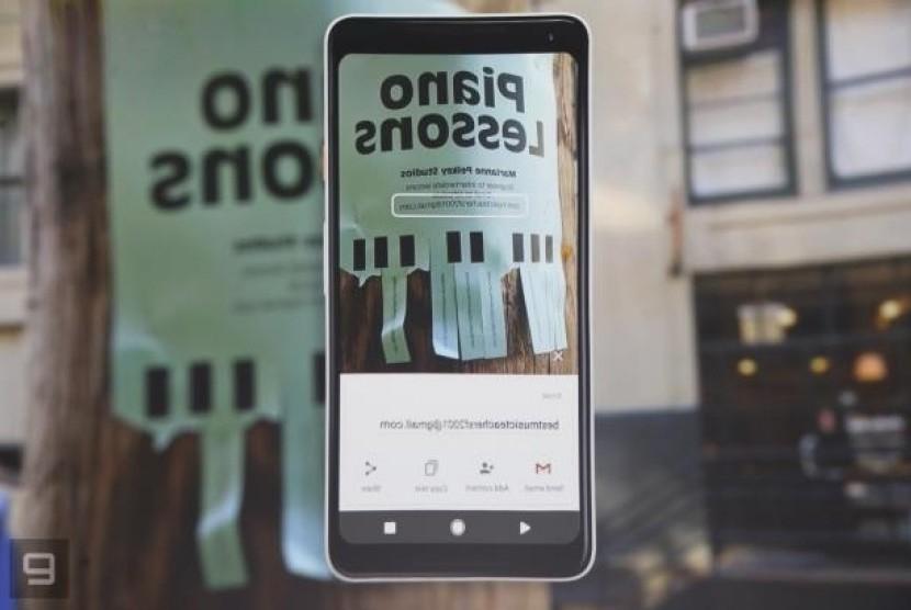 Google Lens. Ilustrasi