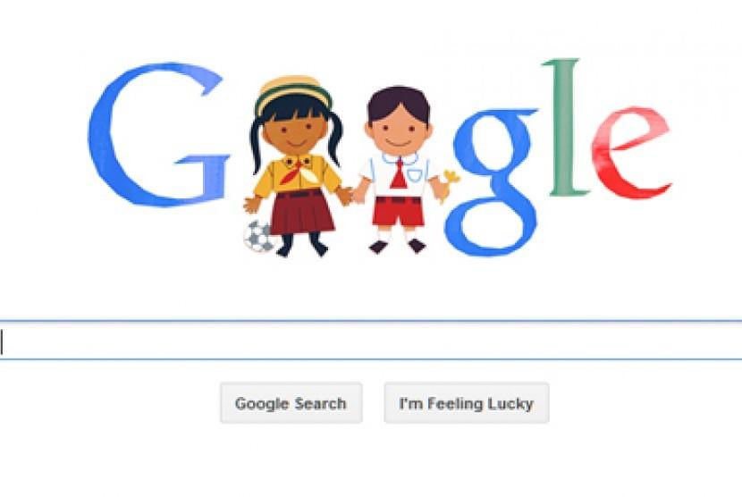 Google peringati Hari Anak Nasional 2013 di Indonesia.