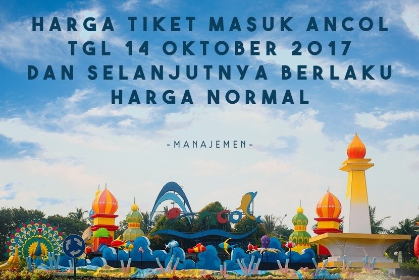 Gratis Masuk Ancol pada tanggal 14 Oktober tidak dilaksanakan.