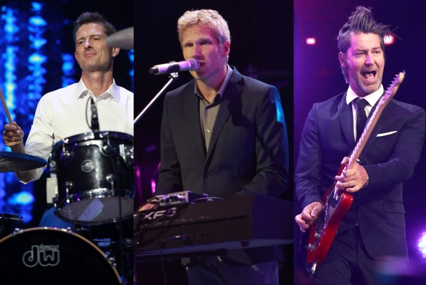 Grup band Michael Learns to Rock (MLTR) , dari kiri K?re Wanscher, Jascha Richter dan Mikkel Lentz