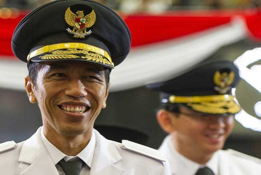 Gubernur DKI Jakarta Joko Widodo dan Basuki Tjahaya Purnama.