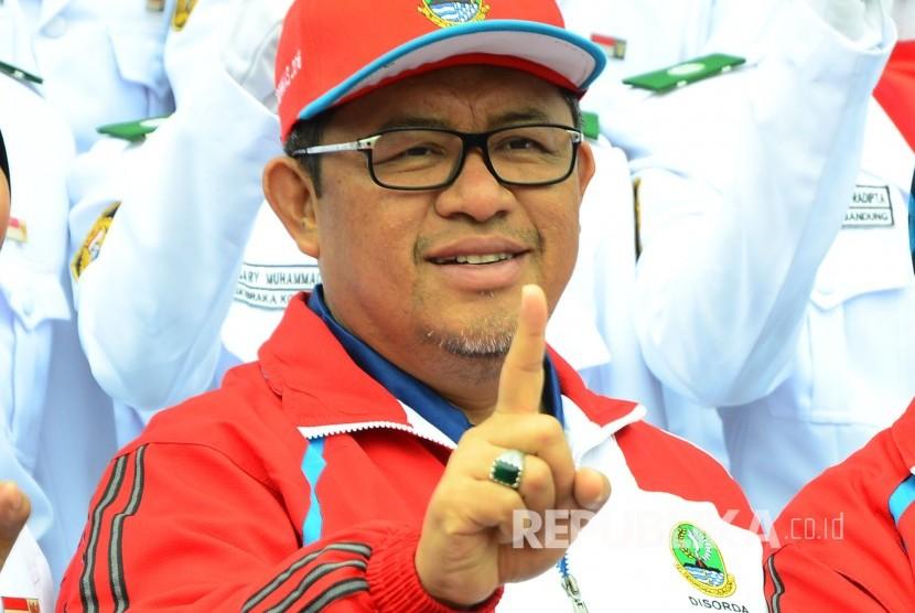 Chairman of National Sports Week XIX at West Java, Ahmad Heryawan. (Republika/Edi Yusuf)