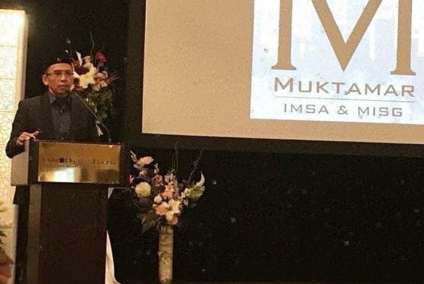Gubernur Nusa Tenggara Barat (NTB) TGH Muhammad Zainul Majdi menjadi pembicara pada Mukhtamar Komunitas Muslim Indonesia di Amerika (IMSA) bekerjasama dengan Komunitas Muslim Malaysia di Amerika (MISG) di Denver, negara bagian Colorado, Amerika Serikat (AS) pada Sabtu (23/12) waktu setempat.