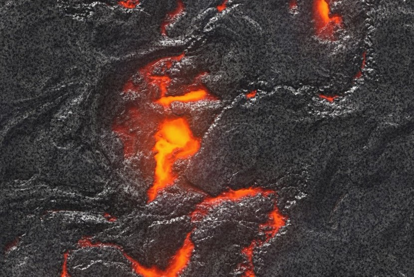 Gumpalan magma (ilustrasi).