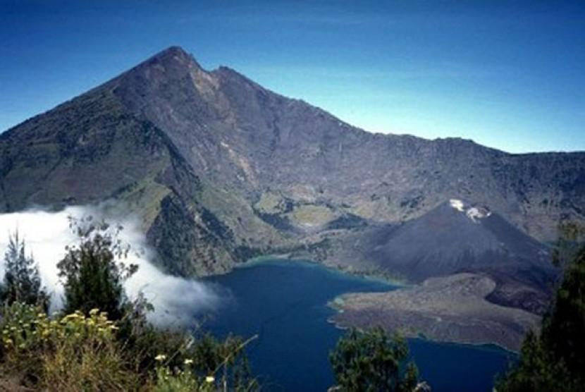 Gunung Rinjani di Pulau Lombok, NTB