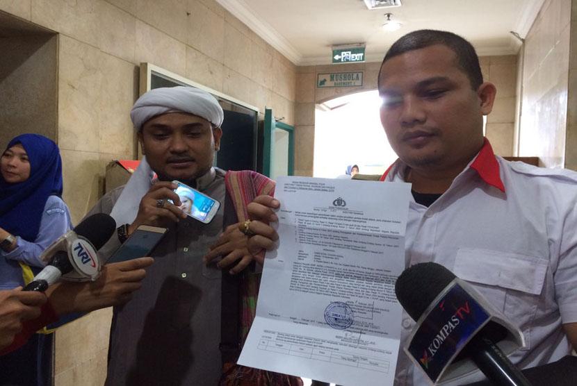 Habib Novel Bamukmin diperiksa sebagai saksi kasus dugaan tindak pidana pencucian uang (TPPU) yayasan keadilan untuk bersama di gedung Bareskrim sementara di Kementerian Kelautan dan Perikanan (KKP), Gambir, Jakarta Pusat, Senin (13/2).