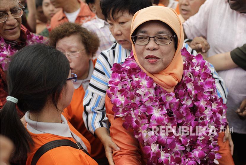 Halimah Yacob Dilantik Jadi Presiden Singapura, Ini Janjinya