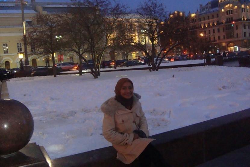 Hanya saya seorang warga Indonesia di Kampus Timiryazev yang merupakan universitas pertanian terbaik di Rusia.