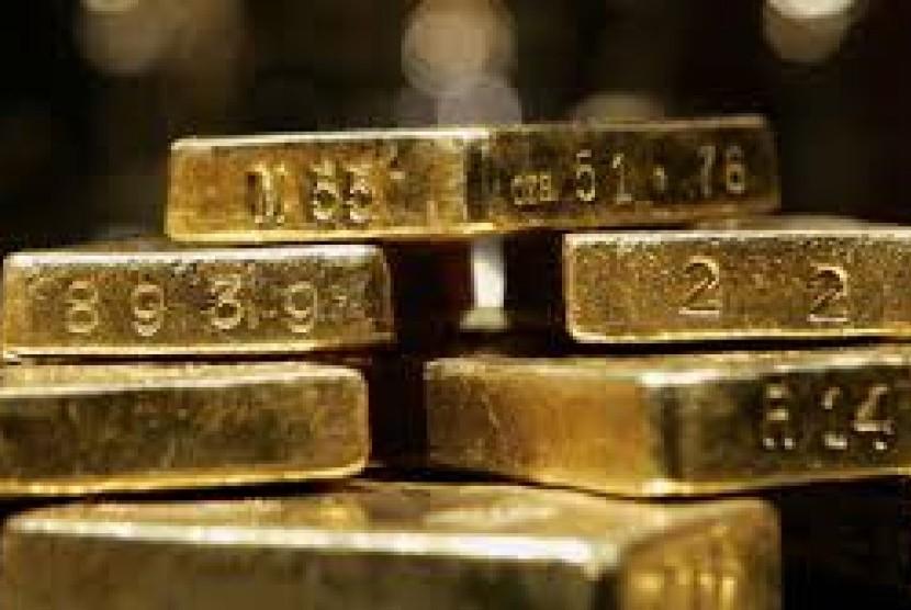 Harga emas dunia (ilustrasi).