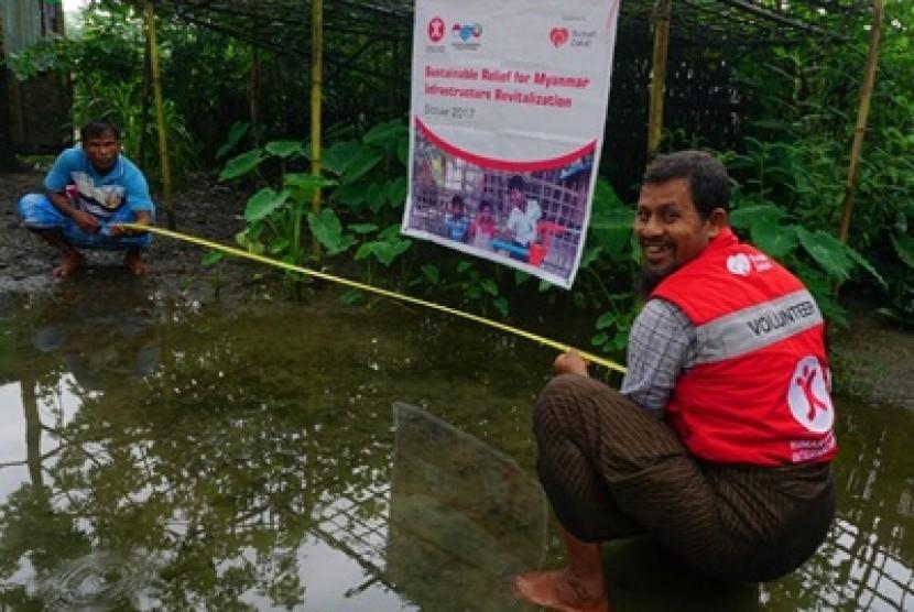HCI dan rumah Zakat akan membangun sekolah darurat di Myanmar.