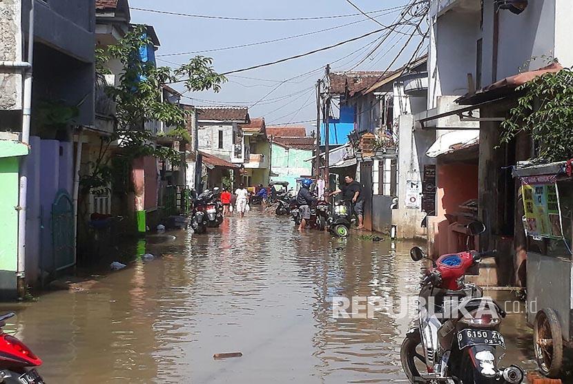 Hujan Deras di Cimahi, Sejumlah Rumah Warga Terendam Banjir