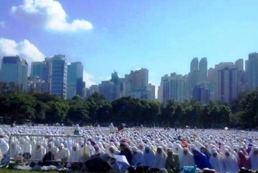 Idul Fitri di Taman Victoria Hongkong