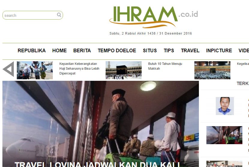 Situs Haji, Umrah, dan Wisata Halal