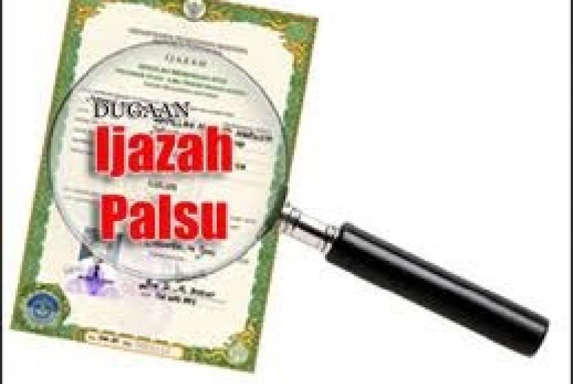 Ijazah Palsu (ilustrasi)