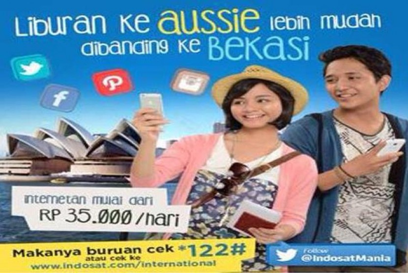 Iklan Indosat yang menyinggung warga Bekasi.