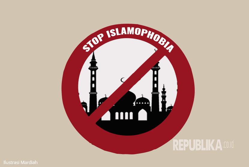 Ilustrasi Islamofobia (18/3).