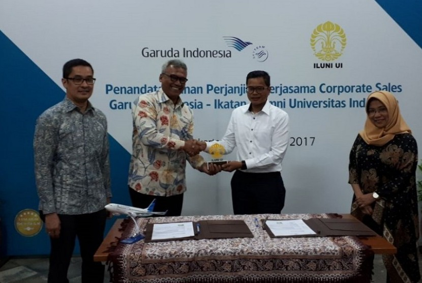 Iluni UI-Garuda Indonesia jalin kerja sama.