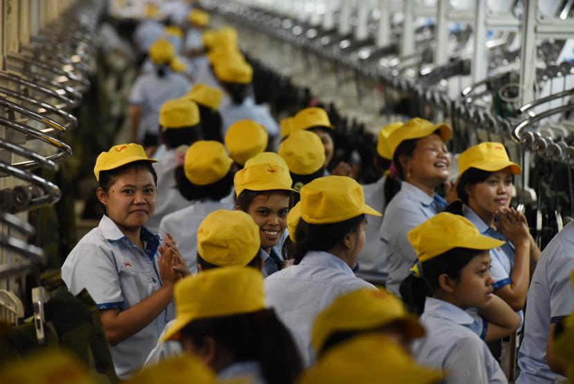 Ilustrasi buruh pabrik