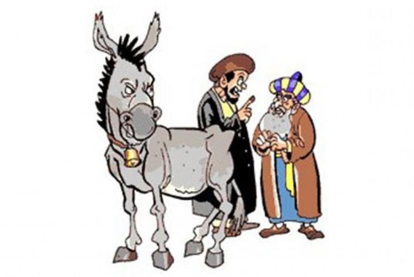 Ilustrasi humor sufi Nasrudin Khoja.