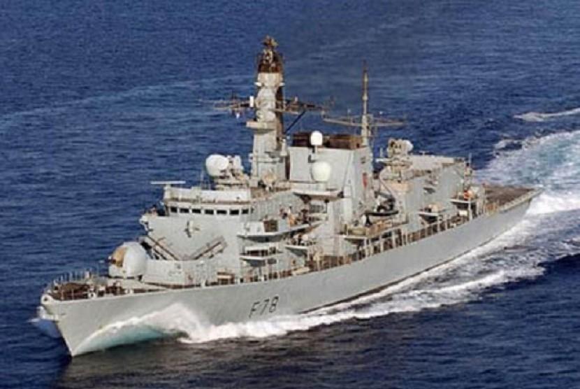 Ilustrasi kapal perang Inggris.