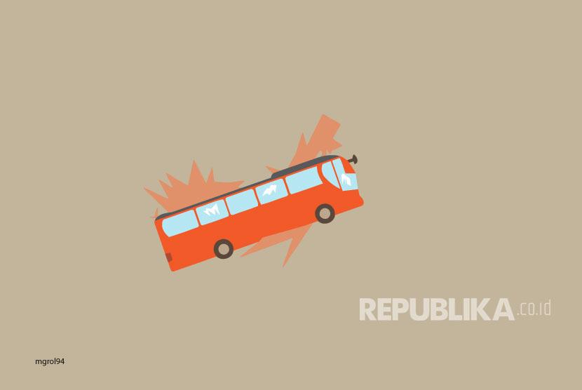 Ilustrasi Kecelakaan Bus