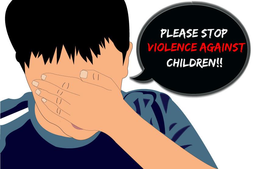 Ilustrasi kekerasan pada anak.  (ilustrator: Rahajeng Aulia Diaswari)