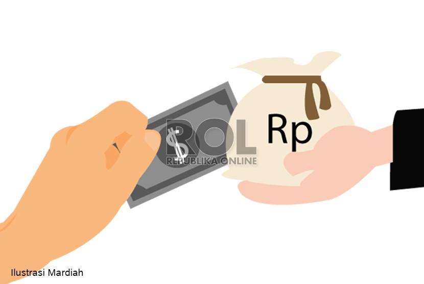 Ilustrasi kurs rupiah terhadap dolar AS