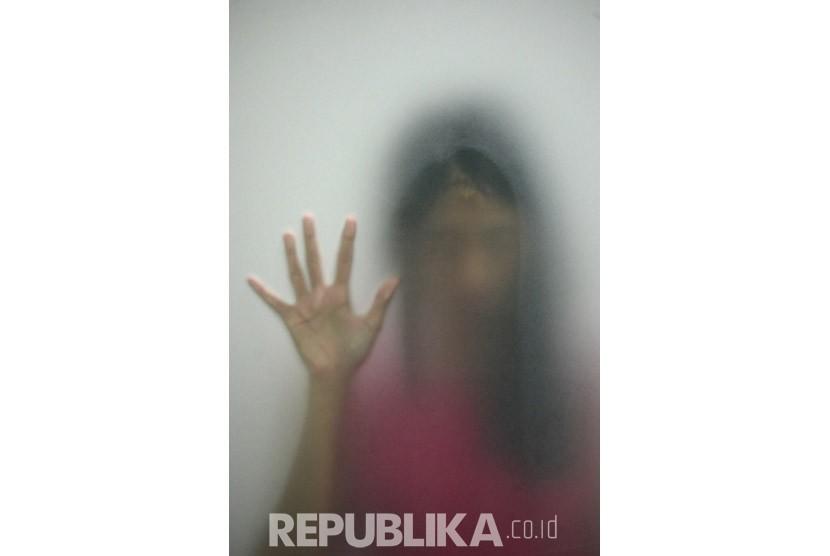 Ilustrasi Pelecehan Seksual. (Republika/Prayogi)