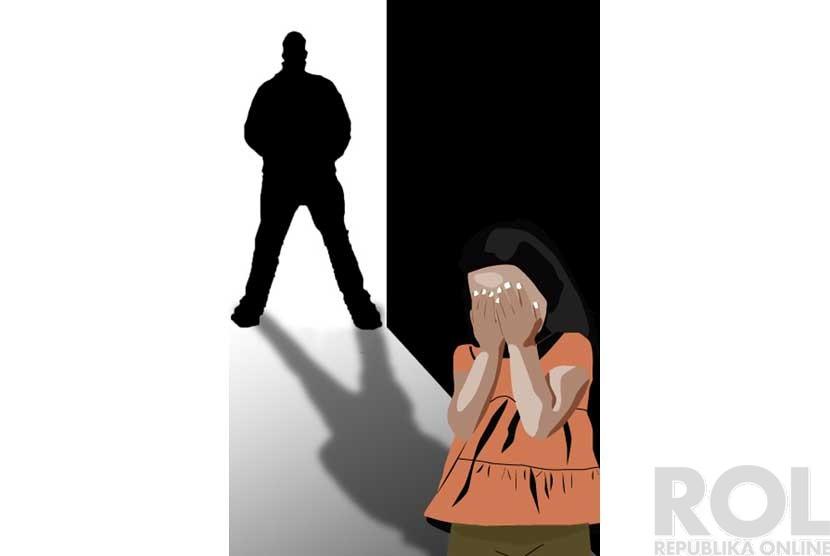 Ilustrasi pemerkosaan di bawah umur.