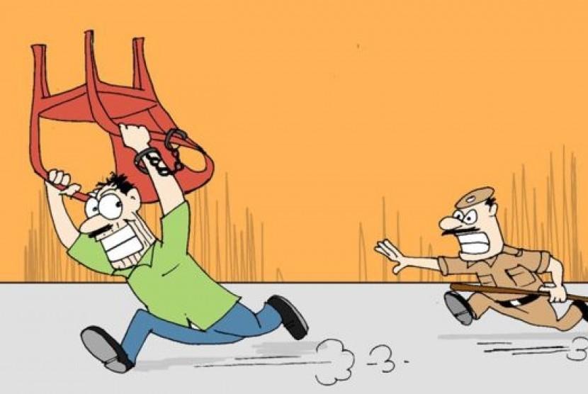 Ilustrasi tahanan kabur