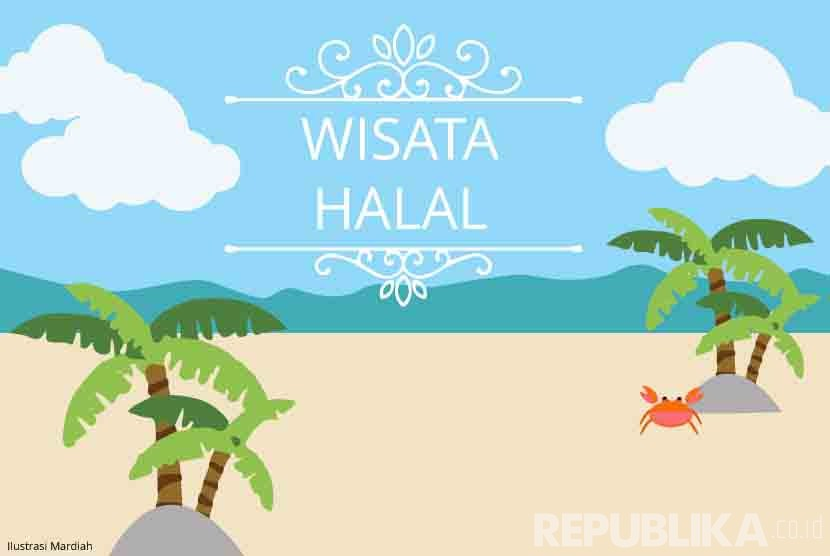 Ilustrasi Wisata Halal. (Republika/Mardiah)